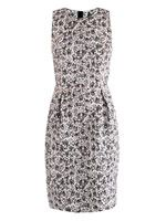 Contrast binding jacquard dress