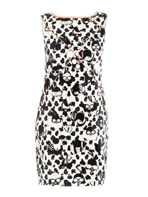 Stampato-print cotton-pique dress