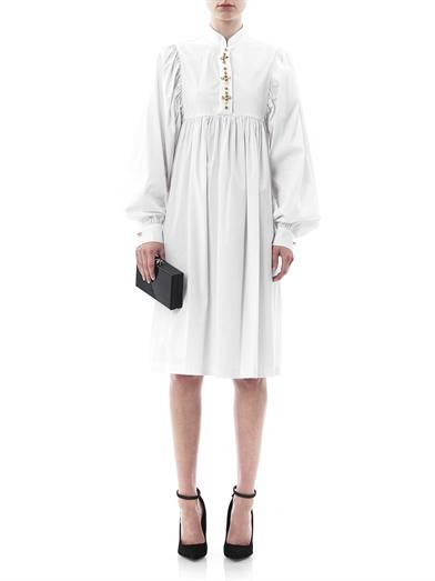 Giles Stud button shirt dress