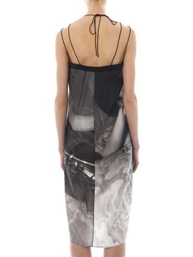 Giles Cowboy Kate-print silk dress