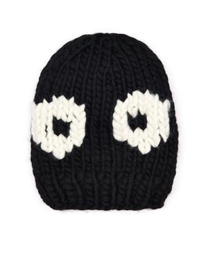 Chunky-knit wool beanie