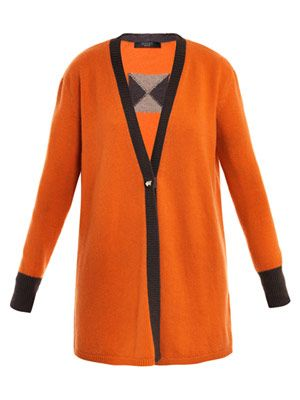 Stud-button cashmere cardigan