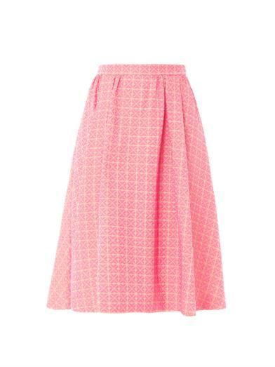 Giles Screw pois jacquard pleated skirt