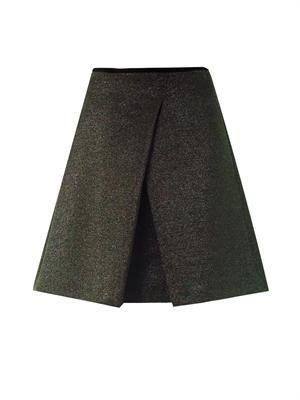 Iridescent glitter A-line skirt