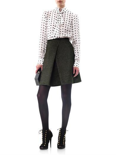 Giles Iridescent glitter A-line skirt