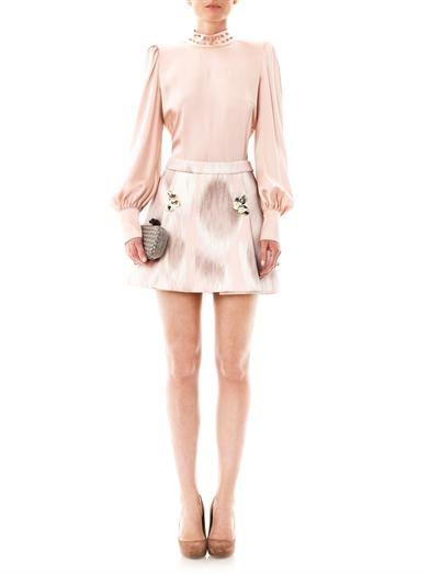 Giles Ombré-print neoprene skirt