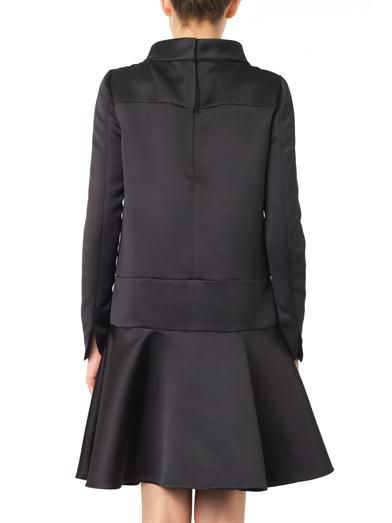 Giles Funnel-neck duchess-satin dress