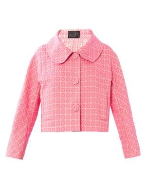 Screw pois jacquard jacket