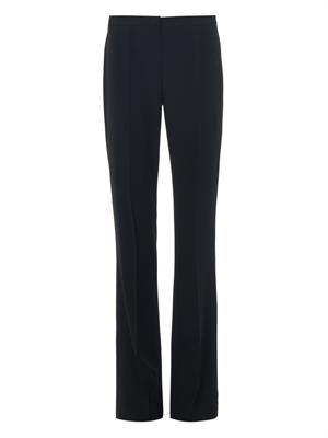 Boot-cut crepe trousers