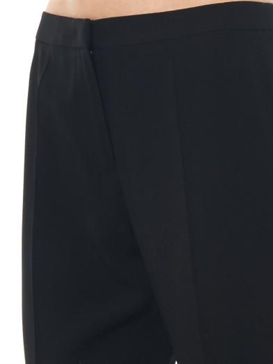 Giles Boot-cut crepe trousers