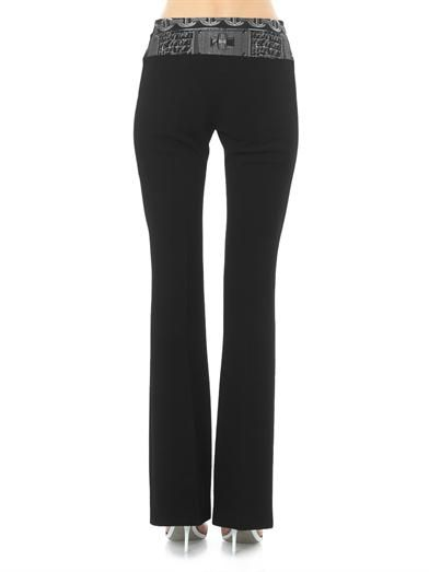 Giles Chain-jacquard waistband trousers