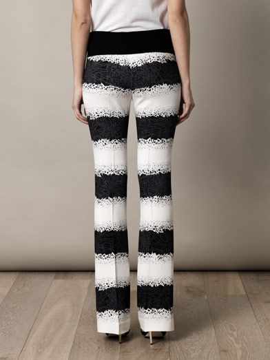 Giles Printed flared tailored trousers