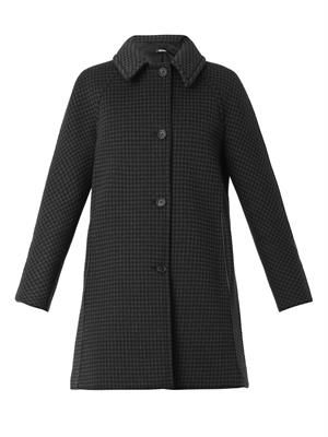 Techno bonded check coat