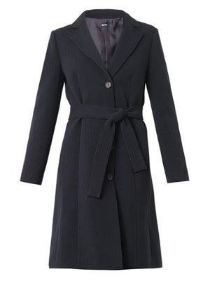 Single-breasted bonded-cotton coat