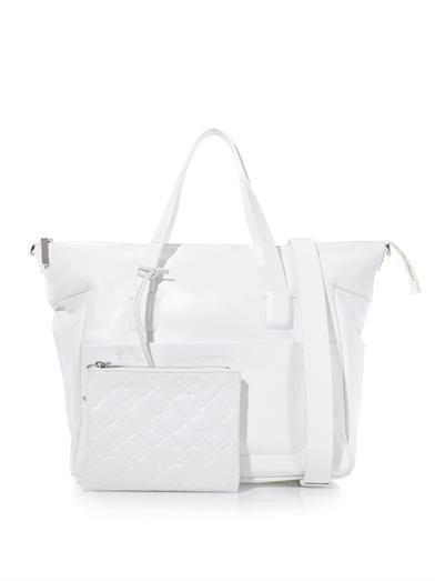 Jil Sander Navy Double-handle leather tote