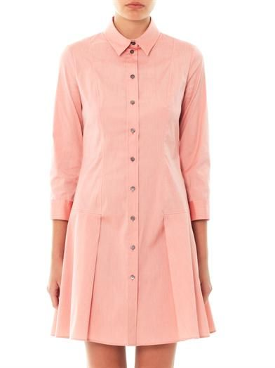 Jil Sander Navy Techno stretch poplin shirt dress