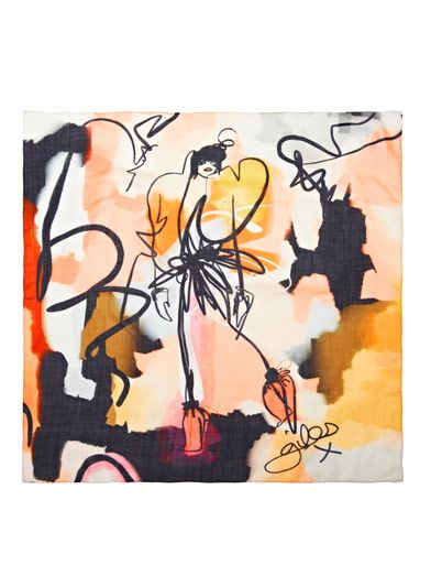 Giles Giles illustration Leah scarf