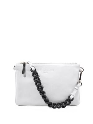 Rubber-chain and leather clutch