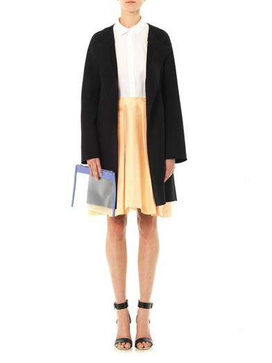 Jil Sander Navy Cotton A-line skirt