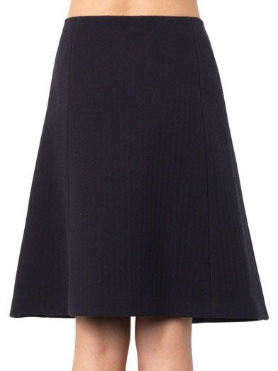 Jil Sander Navy Bonded cotton-blend A-line skirt