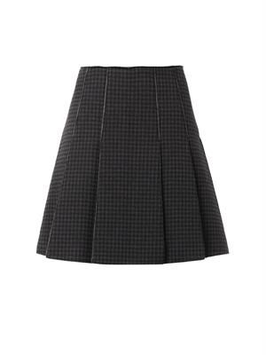 Techno bonded check skirt