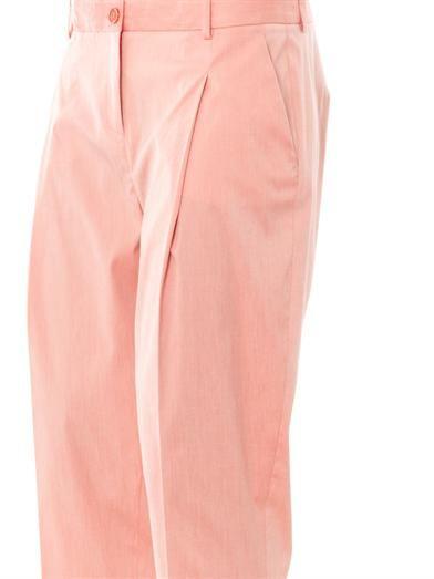 Jil Sander Navy Techno stretch poplin tailored trousers