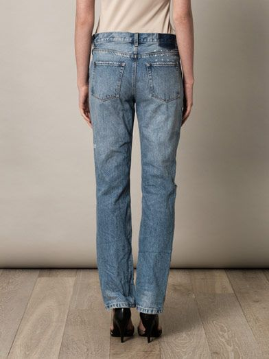 Ksubi Straight-up high-rise boyfriend jeans