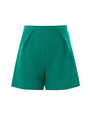 Nyos wool crepe tailored shorts