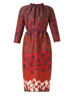 Juliann tulip-print dress