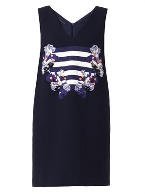 Eda embellished wool-crepe dress