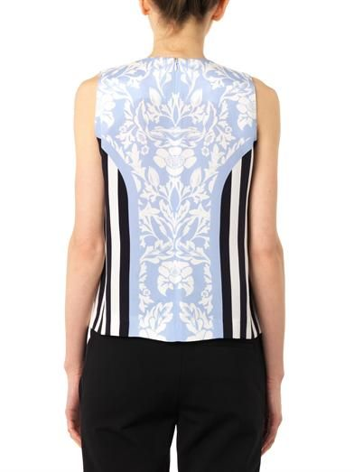 Mother Of Pearl Milly floral and stripe-print blouse