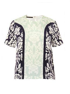 Juno floral-print silk top