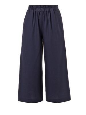 Minos wool-crepe culottes