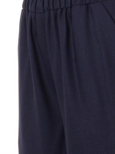 Mother Of Pearl Minos wool-crepe culottes