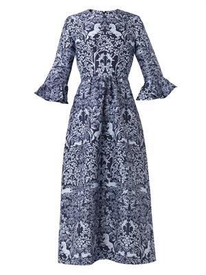 Lyra Unicorn-print dress