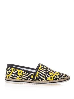 Animal-print espadrilles