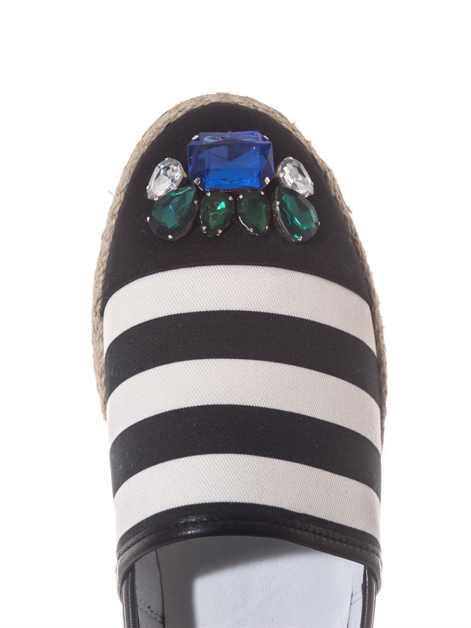 Jewel embellished espadrilles  Mother Of Pearl  I