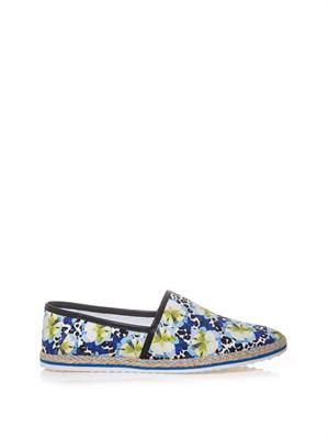 Animal and flower-print espadrilles