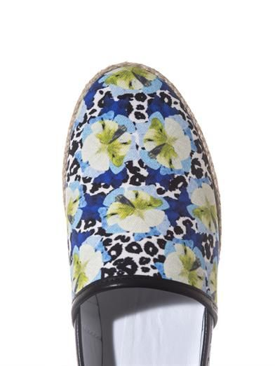 Mother Of Pearl Animal and flower-print espadrilles