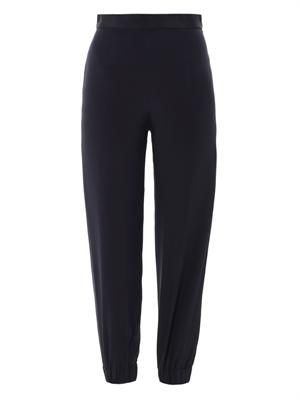 Boyne silk jogger trousers