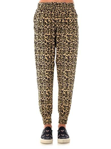 Mother Of Pearl Rhea safari bug-print trousers
