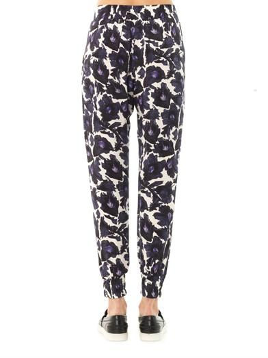 Mother Of Pearl Rhea floral print silk trousers