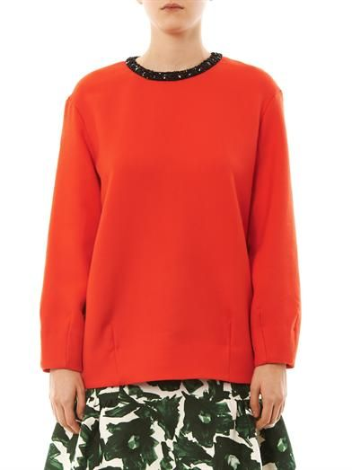 Mother Of Pearl Issik embellished sweater