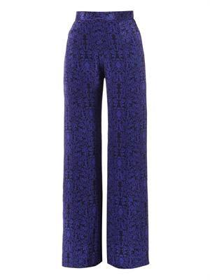Payton floral-print silk trousers