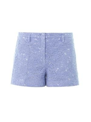 Lace cotton shorts