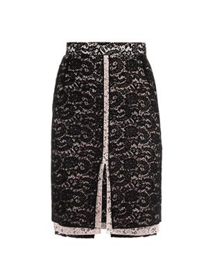 Bi-colour lace skirt