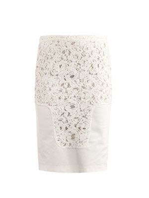 Rounded-hem pencil skirt