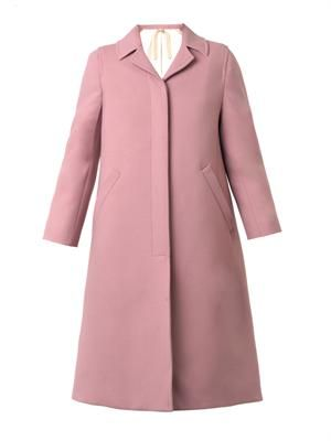 Single-breasted twill coat