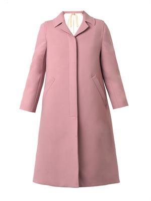 Single-breasted twill coat