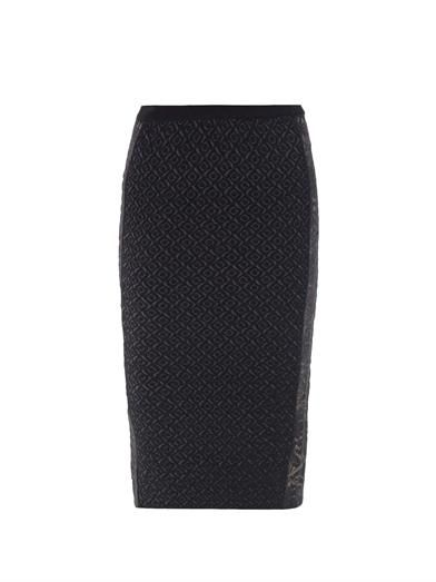 No. 21 Lace panel knitted skirt